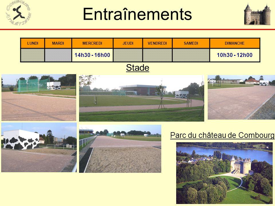 51 Entraînements Stade LUNDIMARDIMERCREDIJEUDIVENDREDISAMEDIDIMANCHE 14h30 - 16h00 10h30 - 12h00 Parc du château de Combourg