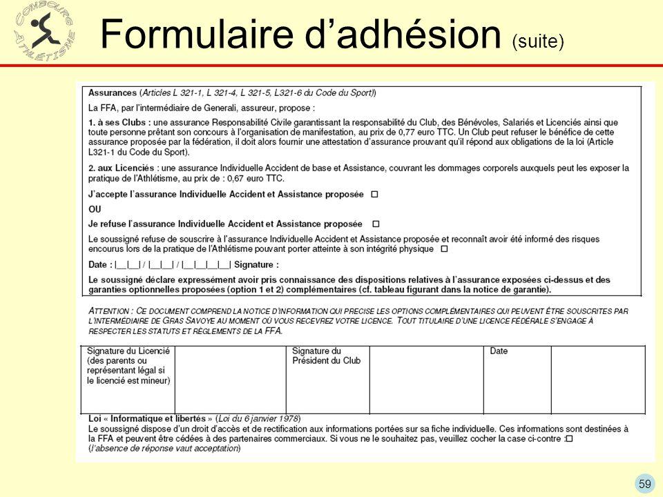 59 Formulaire dadhésion (suite)