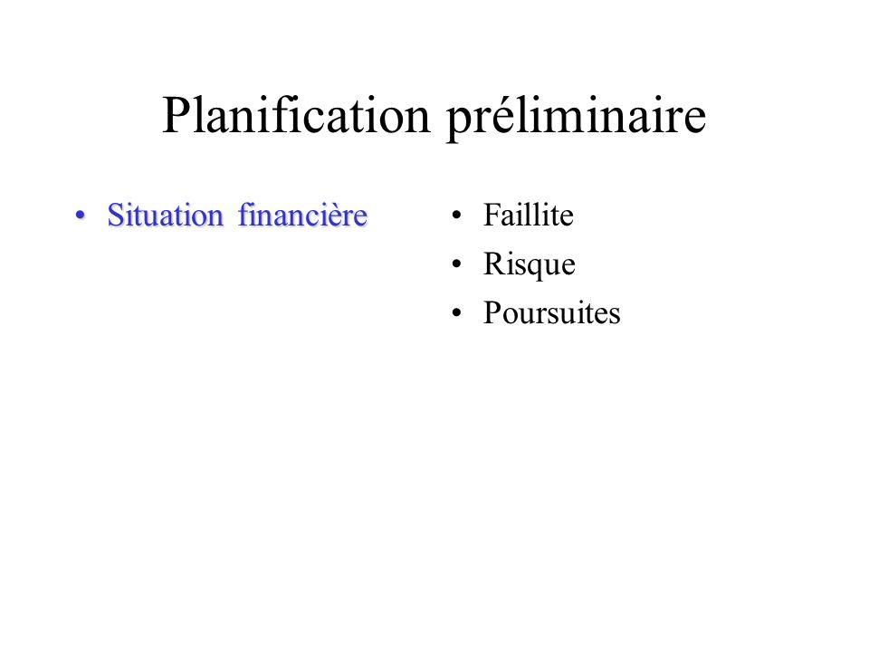 Planification préliminaire IndépendanceIndépendanceLiens financiers Liens demploi Autres