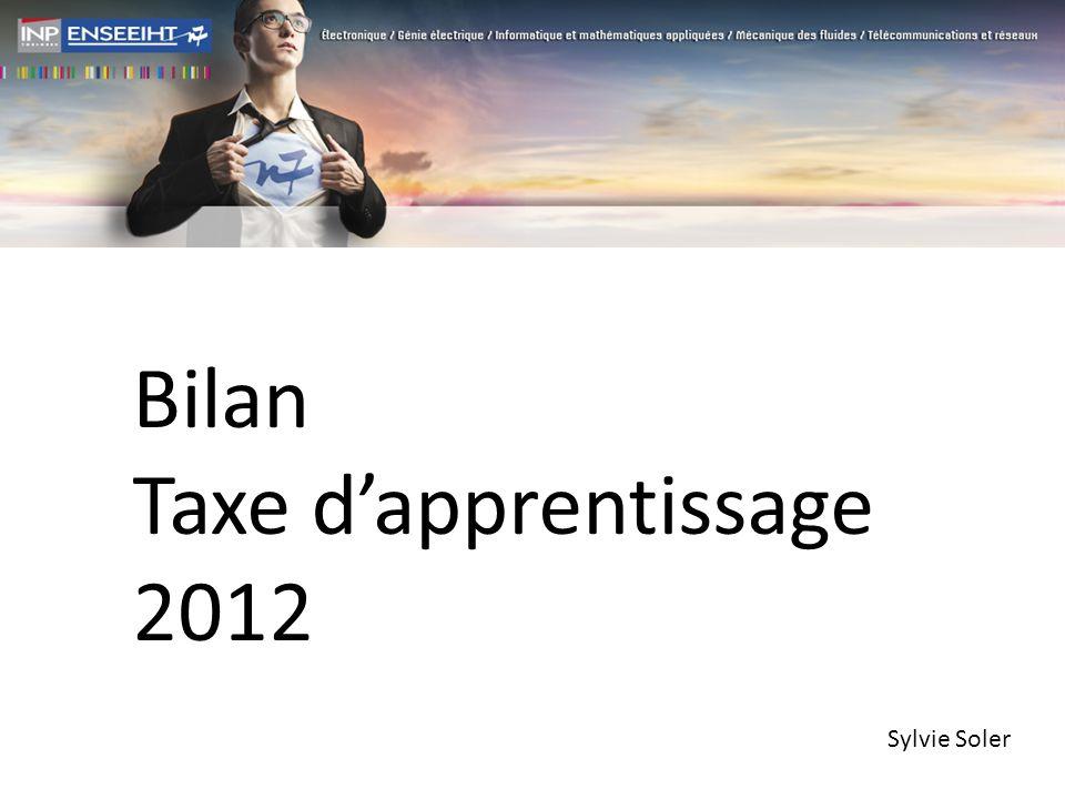 Bilan Taxe dapprentissage 2012 Sylvie Soler