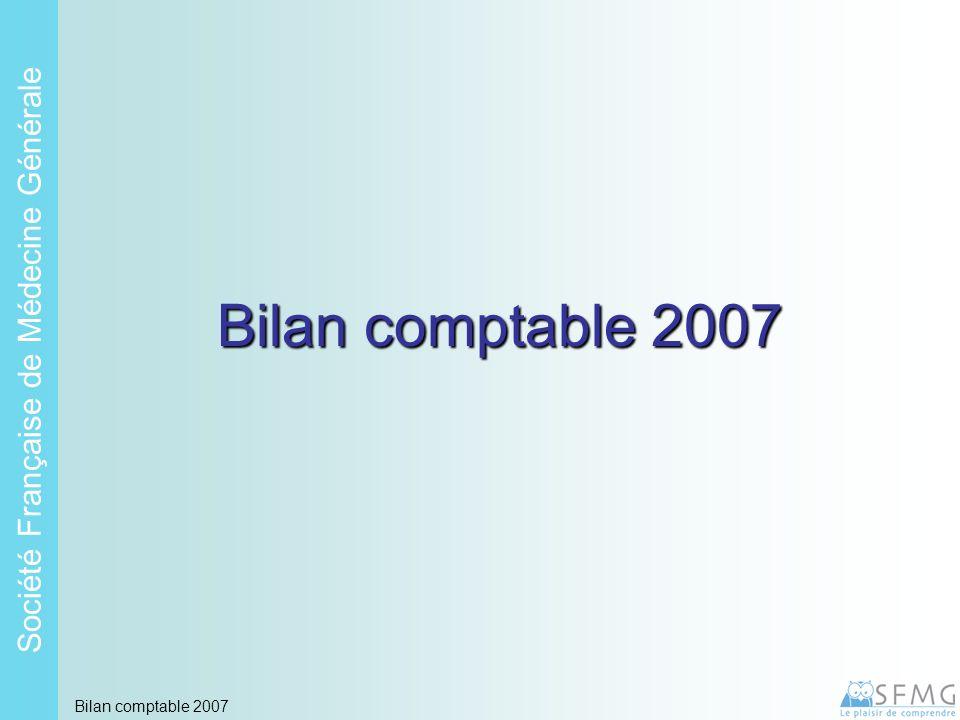 Soci é t é Fran ç aise de M é decine G é n é rale Bilan comptable 2007