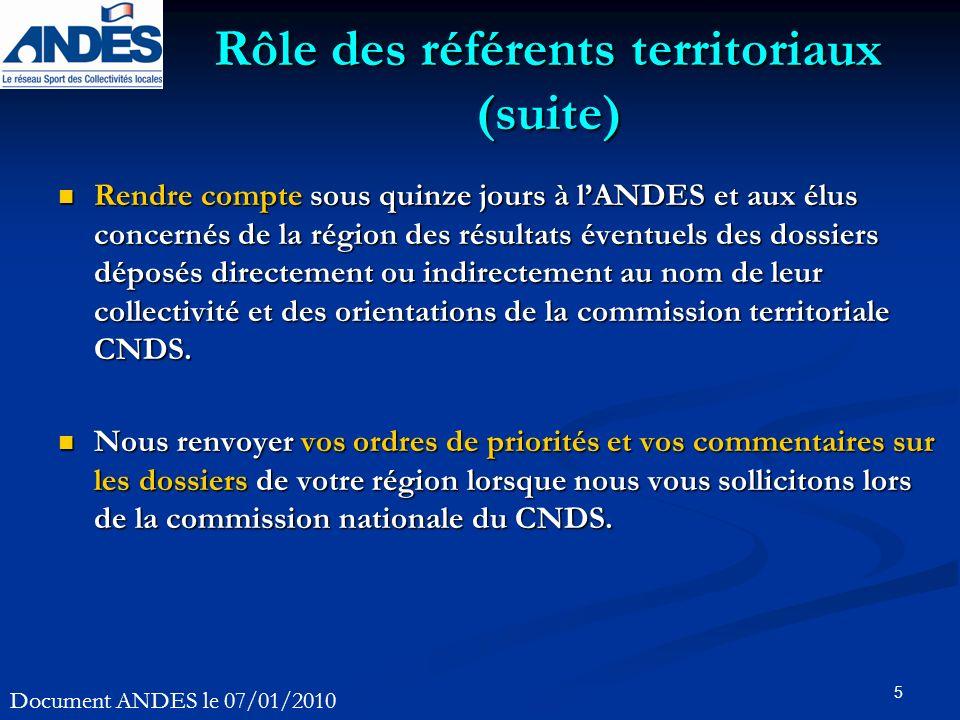 5 Rendre compte sous quinze jours à lANDES et aux élus concernés de la région des résultats éventuels des dossiers déposés directement ou indirectemen