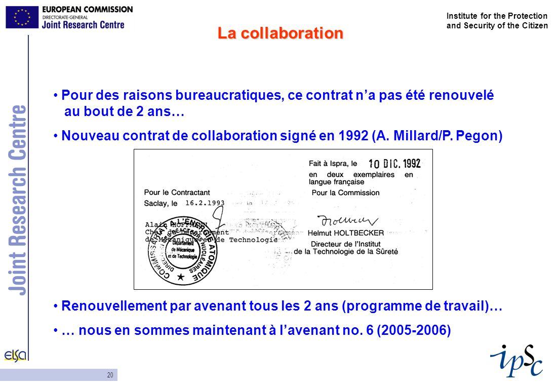 20 Institute for the Protection and Security of the Citizen Pour des raisons bureaucratiques, ce contrat na pas été renouvelé au bout de 2 ans… Nouvea