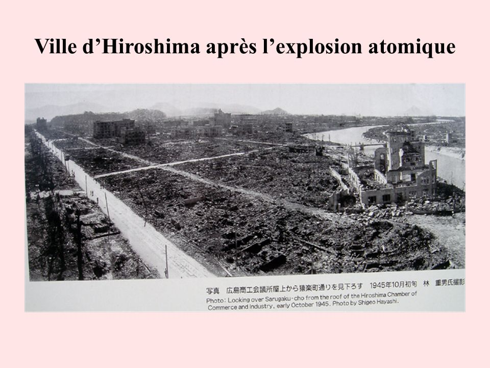 Ville dHiroshima après lexplosion atomique