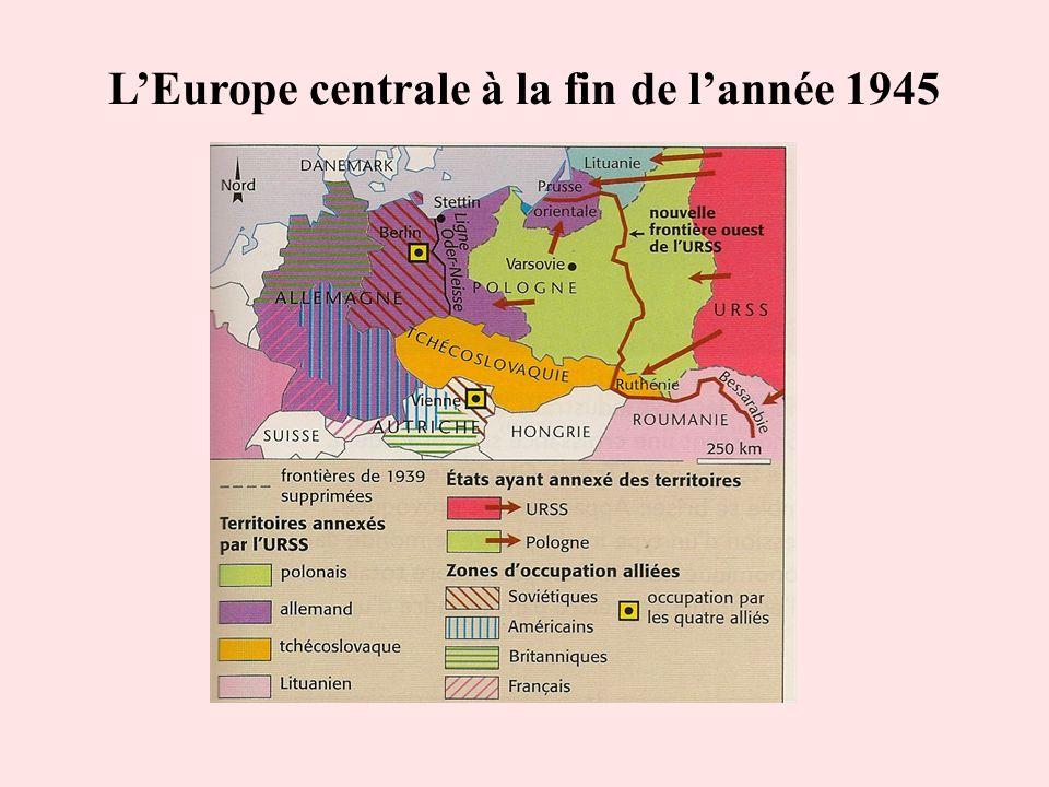 LEurope centrale à la fin de lannée 1945