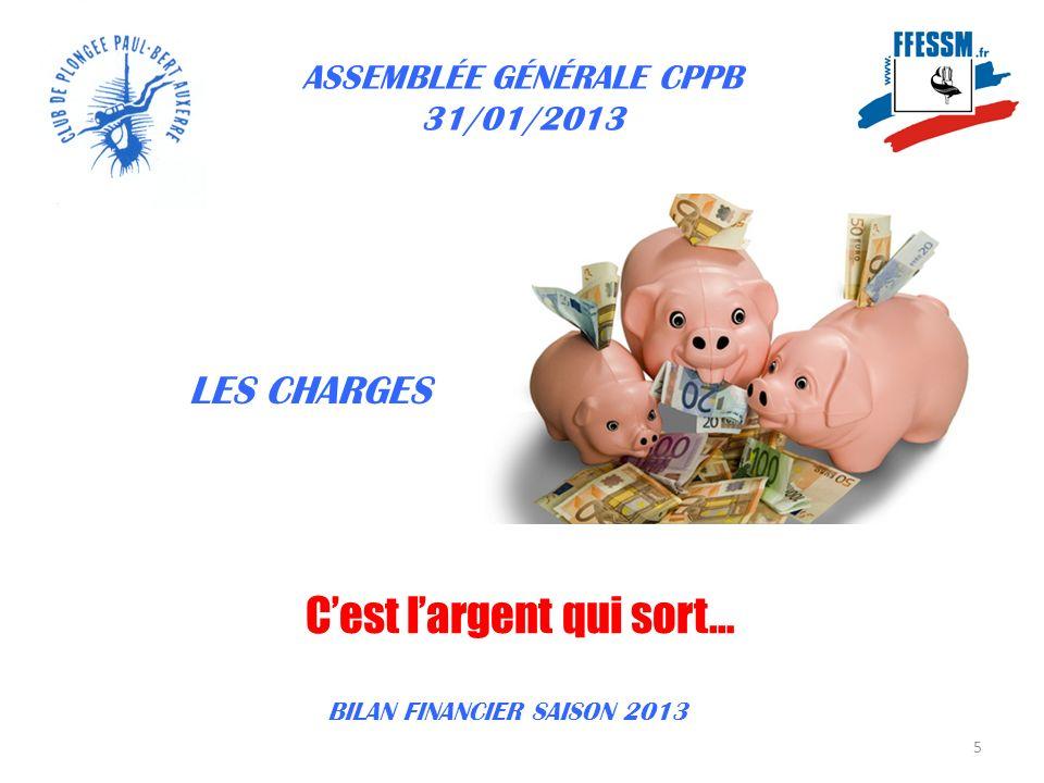 ASSEMBLÉE GÉNÉRALE CPPB 31/01/2013 16 BILAN FINANCIER SAISON 2013