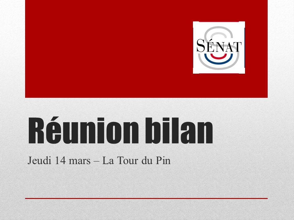 Réunion bilan Jeudi 14 mars – La Tour du Pin