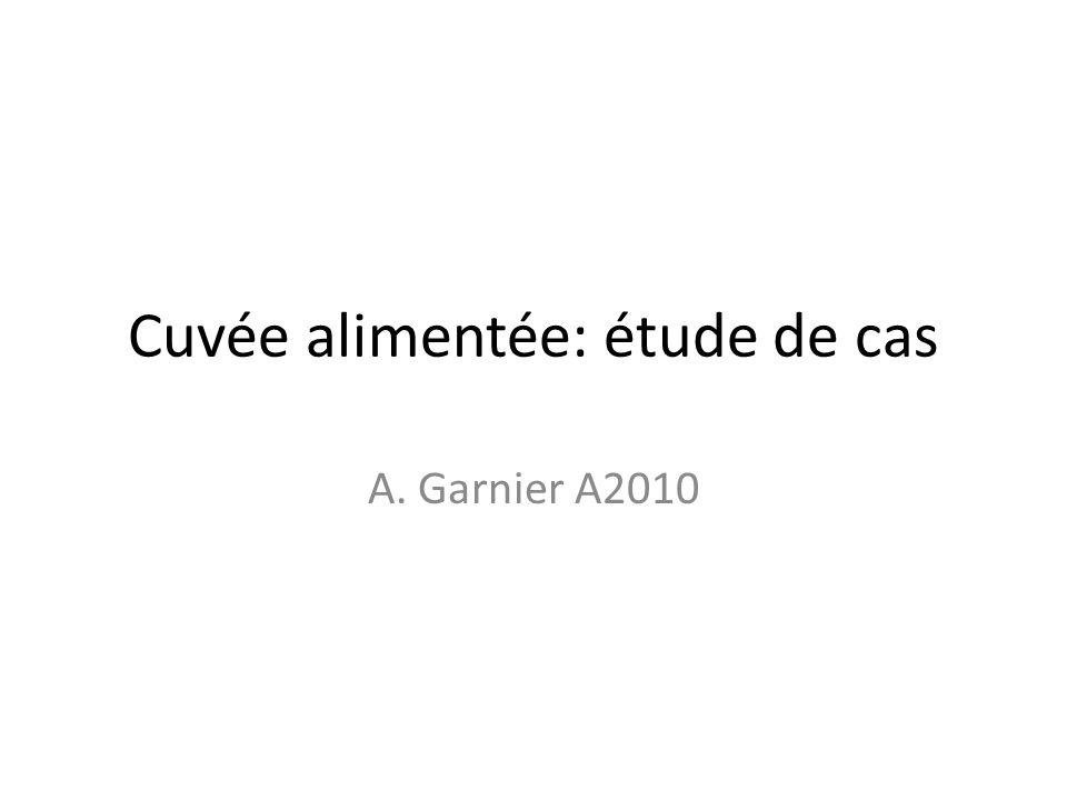 Cuvée alimentée: étude de cas A. Garnier A2010