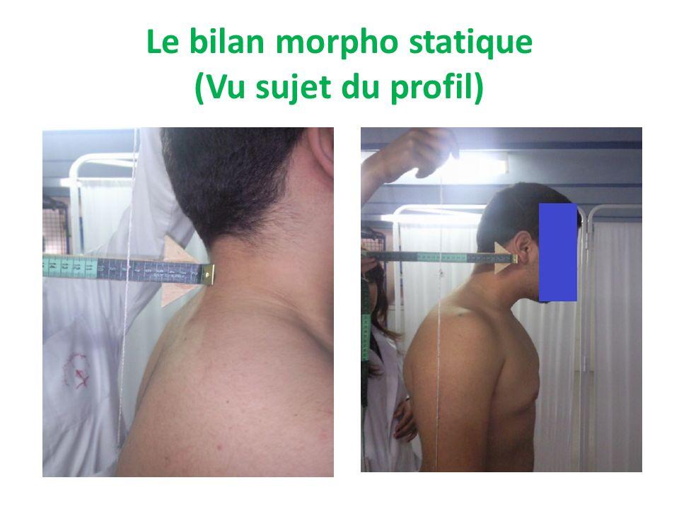 Le bilan morpho statique (Vu sujet du face)