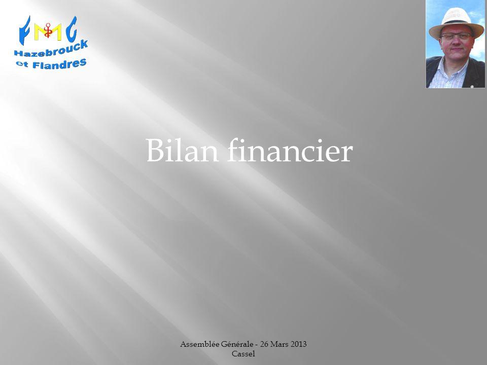 Assemblée Générale - 26 Mars 2013 Cassel Bilan financier