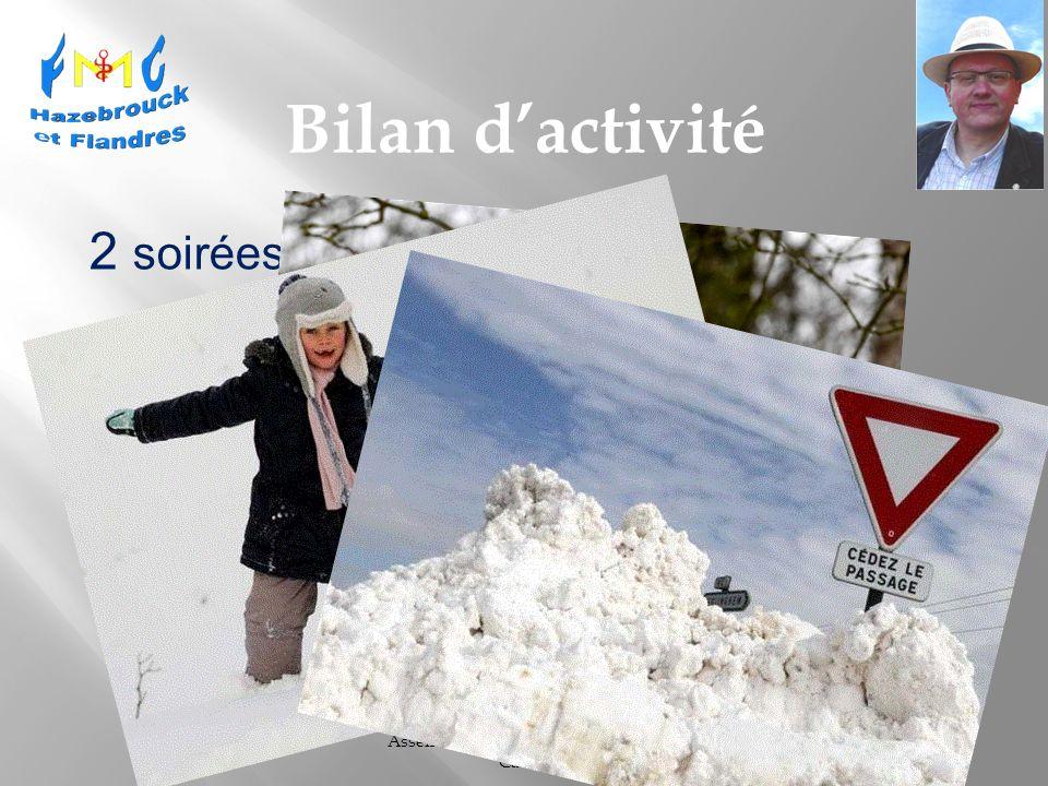Assemblée Générale - 26 Mars 2013 Cassel Bilan dactivité 2 soirées annulées