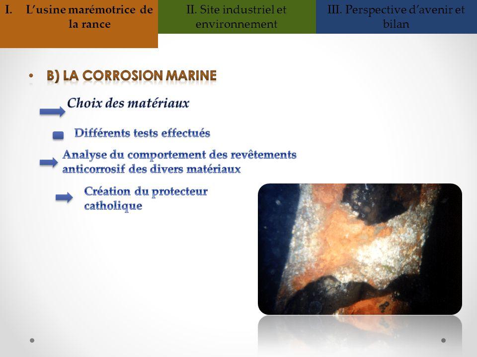 I.Lusine marémotrice de la rance II. Site industriel et environnement III. Perspective davenir et bilan