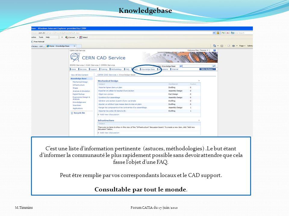 Knowledgebase Cest une liste dinformation pertinente (astuces, méthodologies).Le but étant dinformer la communauté le plus rapidement possible sans de