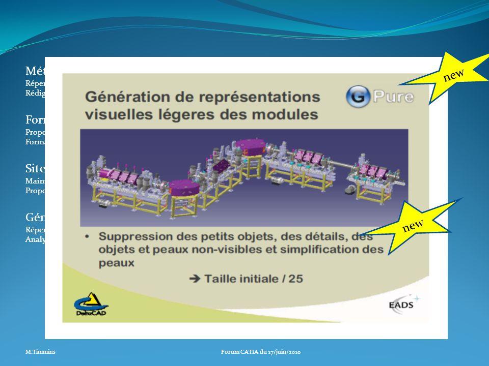 Génération de maquettes simplifiées (Frederic Galleazzi) Répertorier les besoins CERN en matière de critères de simplification. Analyser les offres du
