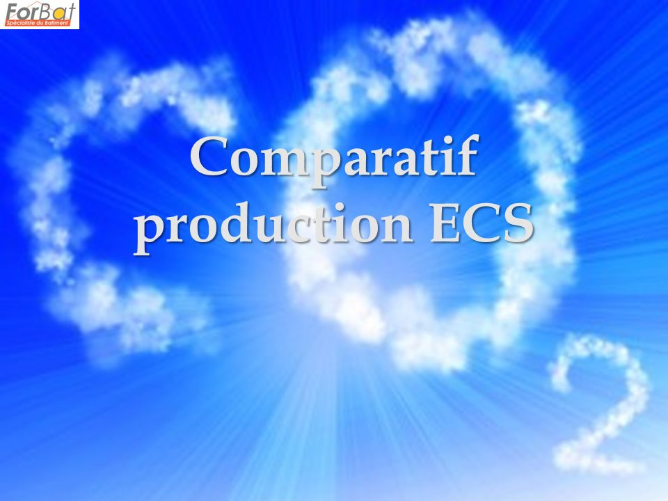Comparatif production ECS