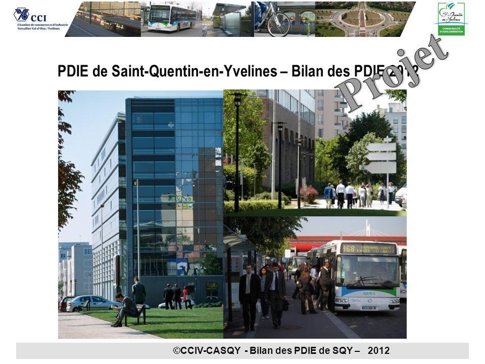 PDIE de Saint-Quentin-en-Yvelines – Bilan des PDIE 2012 ©CCIV-CASQY - Bilan des PDIE de SQY – 2012