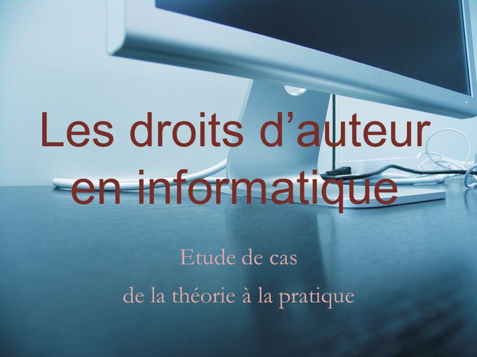 Plan danalyse I.Théorie La Loi, au service des développeurs et de leurs œuvres II.