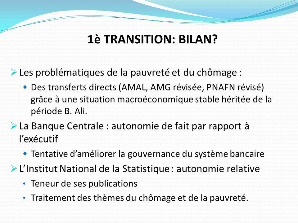 1è TRANSITION: BILAN.