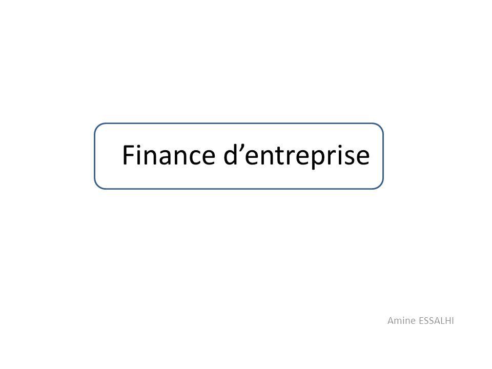 Maximisation de la richesse des actionnaires Structure financière saine: – Fonds propres: – Dettes à LT: – Dettes à CT: