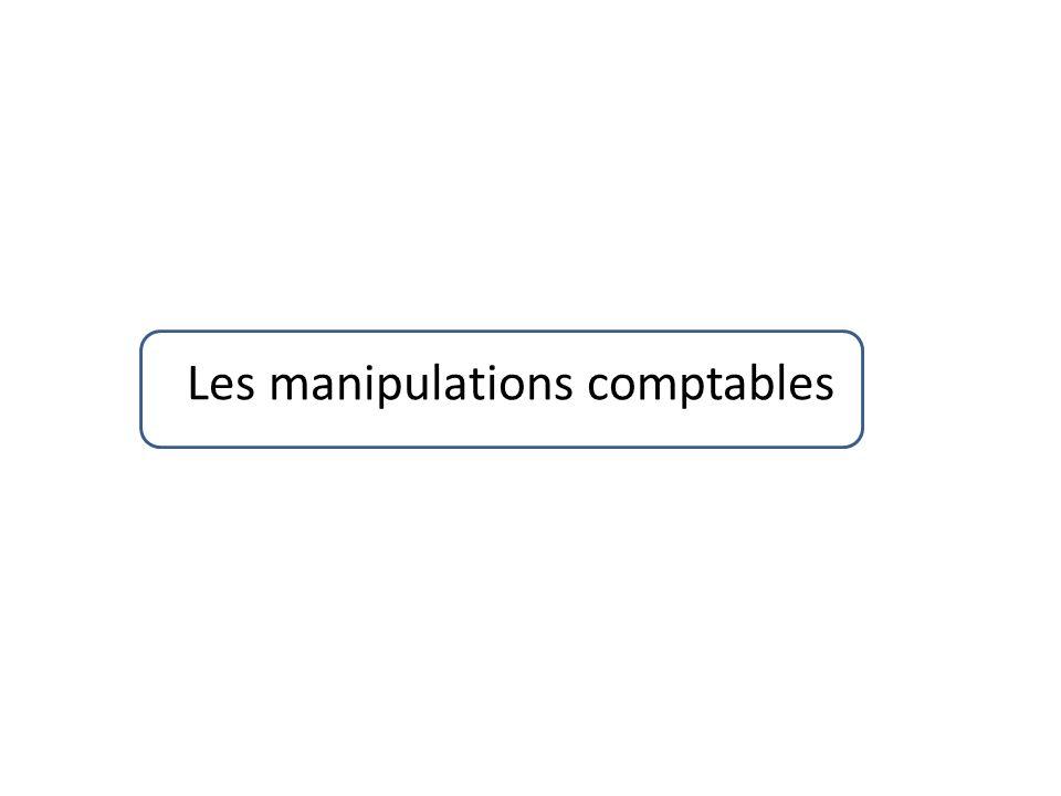 Les manipulations comptables