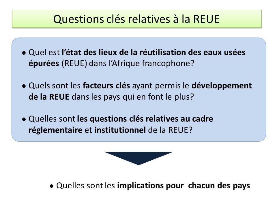 Quel est létat des lieux de la réutilisation des eaux usées épurées (REUE) dans lAfrique francophone.