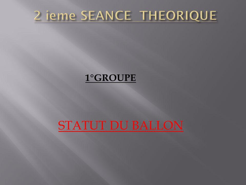 1°GROUPE STATUT DU BALLON