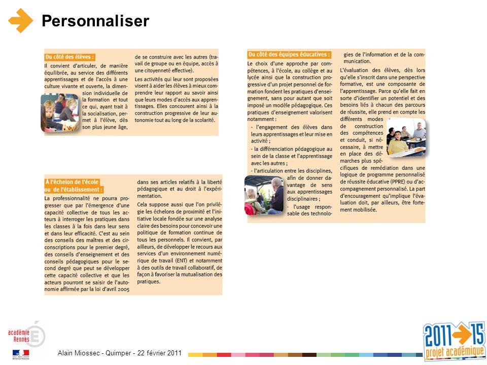 Alain Miossec - Quimper - 22 février 2011 Personnaliser