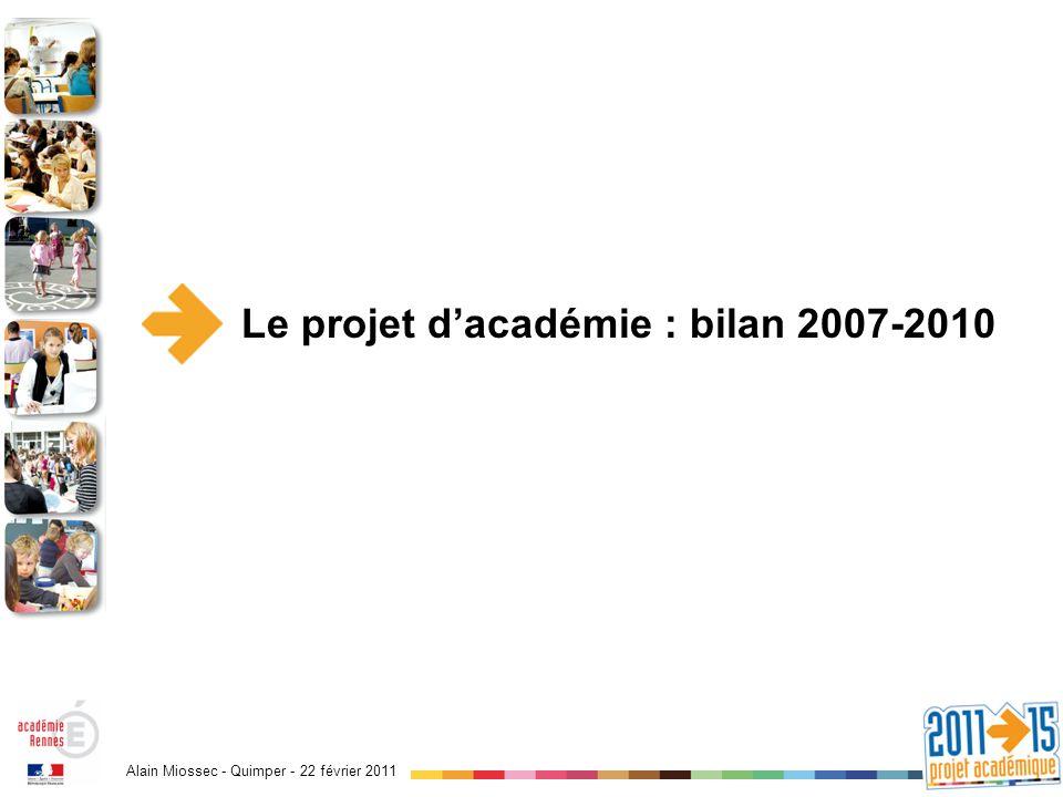 Alain Miossec - Quimper - 22 février 2011 Éléments de bilan 2007-2010