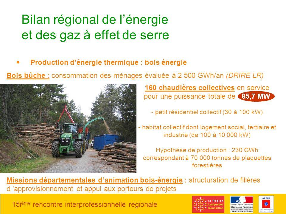 15i ème rencontre interprofessionnelle régionale 160 chaudières collectives en service pour une puissance totale de 85,7 MW - petit résidentiel collec