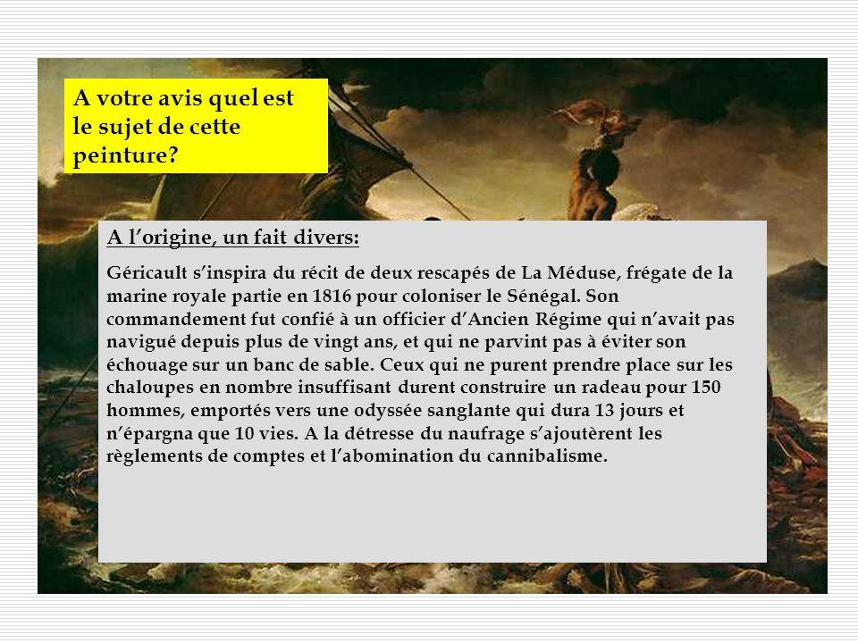 Séance- Lyrisme et romantisme Objectif : Découvrir lexpression des sentiments dans un tableau romantique Le radeau de la Méduse, de Géricault 1819 au