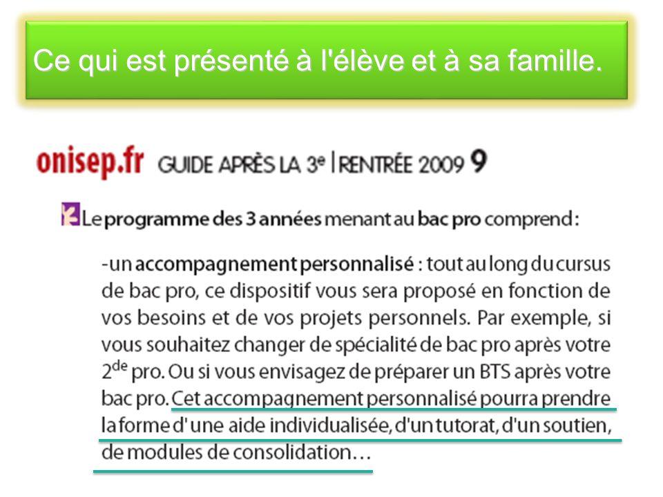Source : ONISEP RENOVATION DE LA VOIE PROFESSIONNELLE BAC PRO 3 ans
