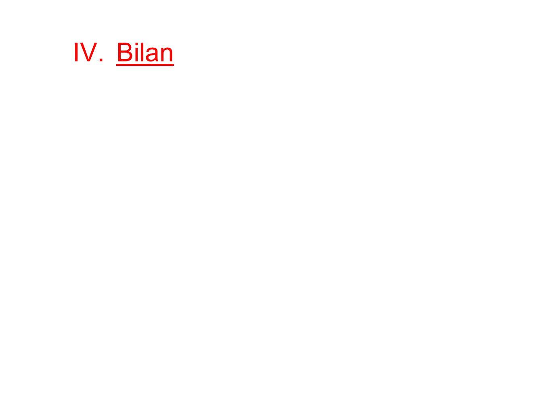 IV.Bilan