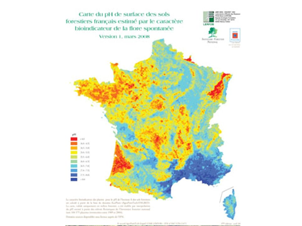Eléments sur la fertilité des sols Aspects méthodologiques pour qualifier le déficit possible Les bilans minéraux exhaustifs sont difficiles à mettre en œuvre mais des bilans « simplifiés » de biomasse / minéralomasse peuvent être entrepris.