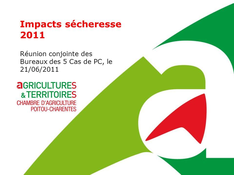 Réunion conjointe des Bureaux des 5 Chambres dAgriculture de Poitou-Charentes, le 21 juin 2011 la paille supplémentaire prélevée sur lexploitation au coût de pressage à 7 /t achetée à 65 /t les concentrés achetés à 260 /T réduction des charges de récolte fourragère sur la base des charges variables à 17 /t Impact économique sur les départements de Poitou-Charentes