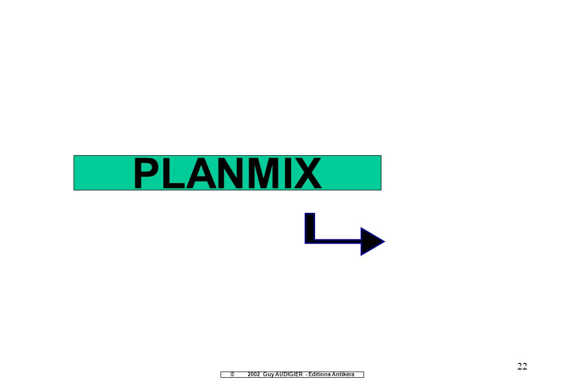 22 PLANMIX ©2002 Guy AUDIGIER - Editions Antikèra