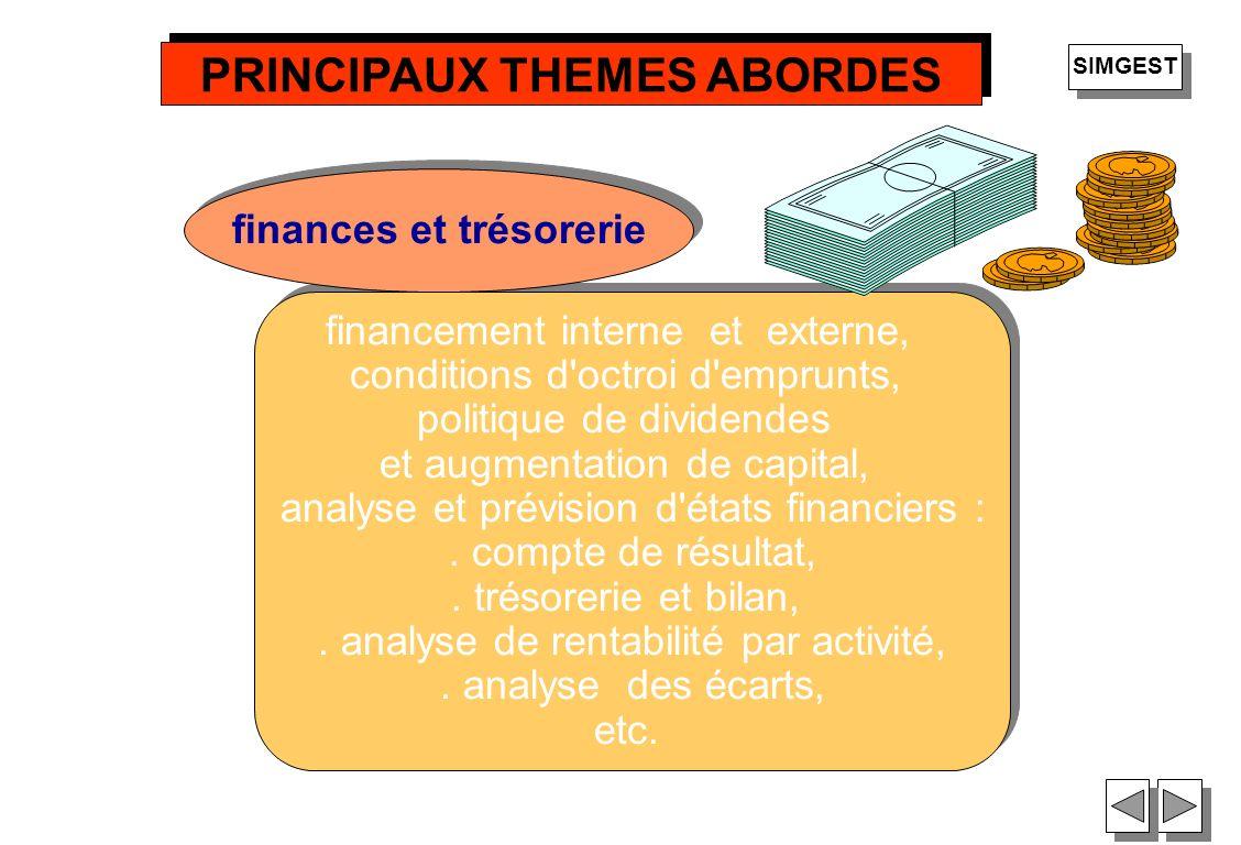 36 financement interne et externe, conditions d'octroi d'emprunts, politique de dividendes et augmentation de capital, analyse et prévision d'états fi