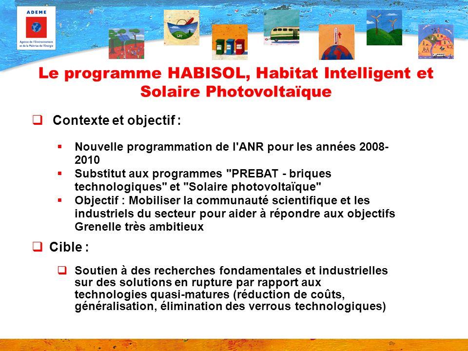 Contexte et objectif : Nouvelle programmation de l'ANR pour les années 2008- 2010 Substitut aux programmes