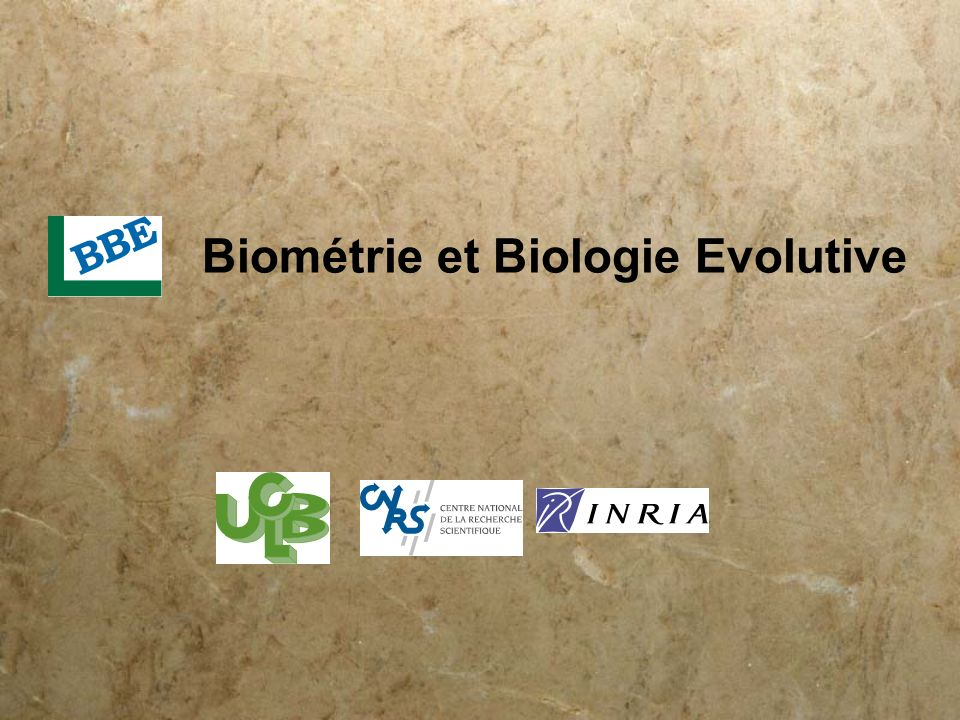 Biométrie et Biologie Evolutive