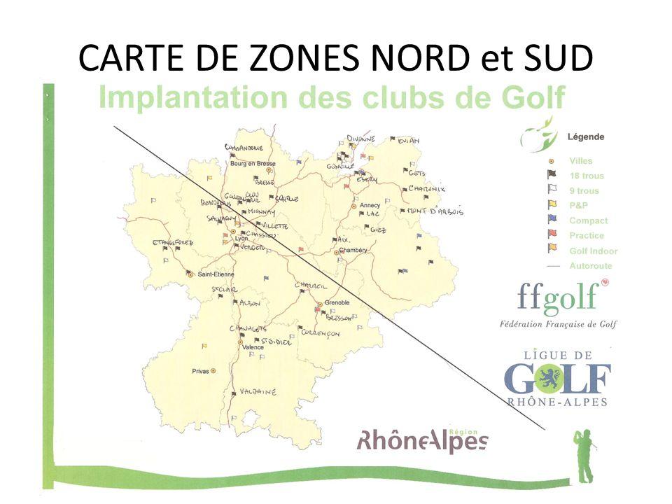 CARTE DE ZONES NORD et SUD
