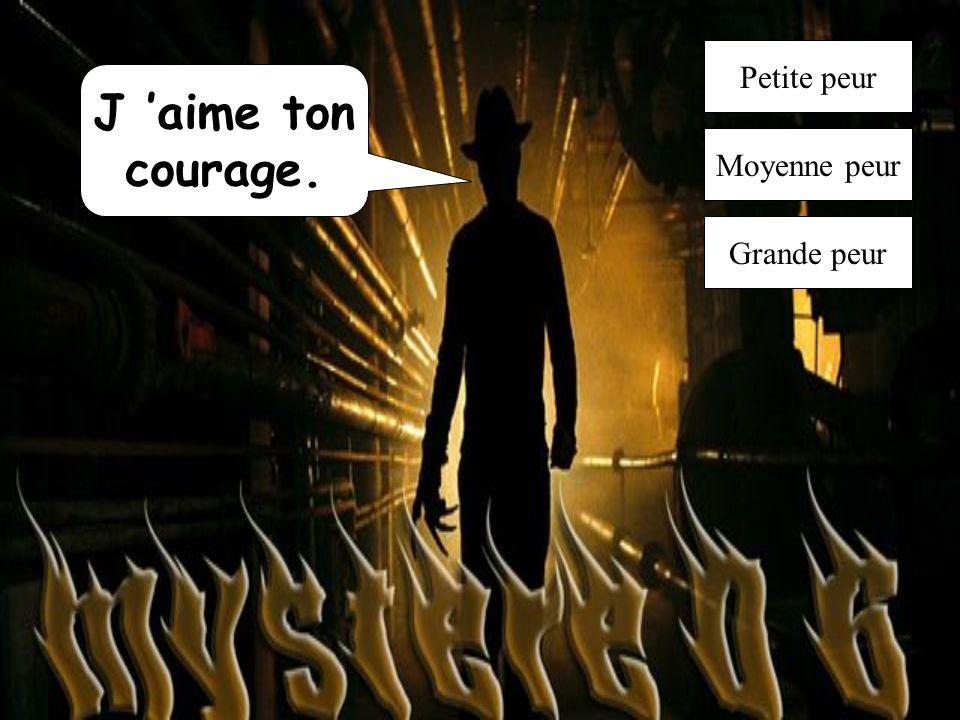 J aime ton courage. Petite peur Moyenne peur Grande peur