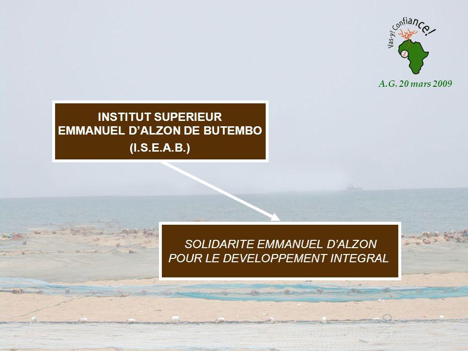 INSTITUT SUPERIEUR EMMANUEL DALZON DE BUTEMBO (I.S.E.A.B.) SOLIDARITE EMMANUEL DALZON POUR LE DEVELOPPEMENT INTEGRAL