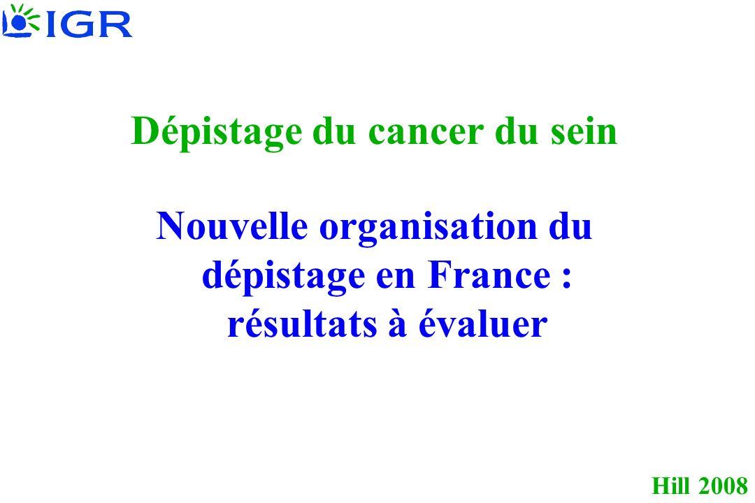 Hill 2008 Dépistage du cancer du sein Nouvelle organisation du dépistage en France : résultats à évaluer