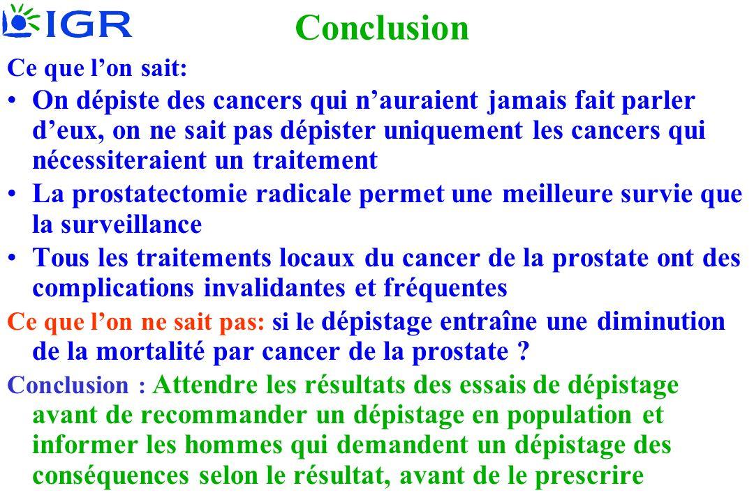 Hill 2008 Ce que lon sait: On dépiste des cancers qui nauraient jamais fait parler deux, on ne sait pas dépister uniquement les cancers qui nécessiter