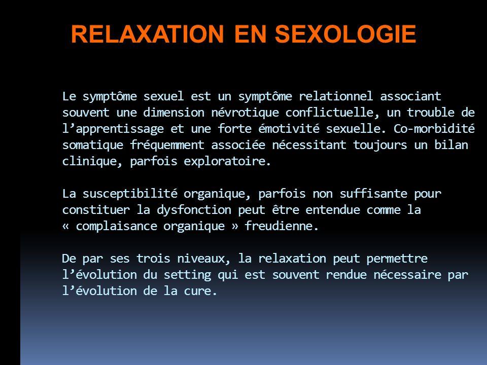 Le symptôme sexuel est un symptôme relationnel associant souvent une dimension névrotique conflictuelle, un trouble de lapprentissage et une forte émo
