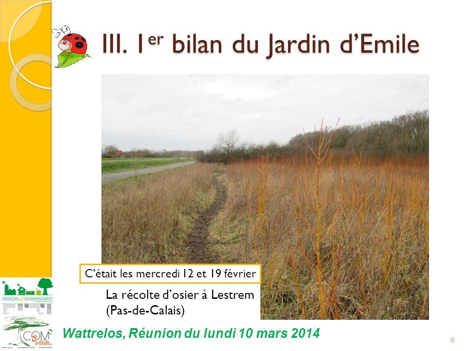 III.1 er bilan du Jardin dEmile III.