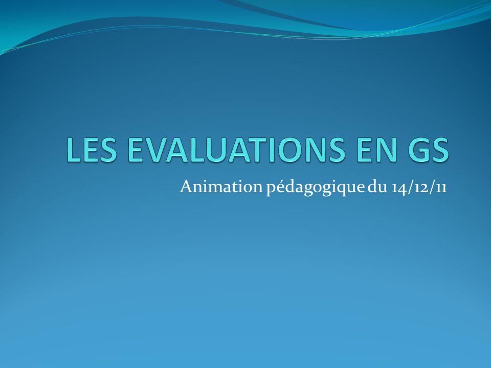 Les évaluations de GS Présentation de loutil Eduscol –MEN/DGESCO Principe dun bilan en fin décole maternelle -Circulaire 2008-155 du 14/11/2008 définissant le livret scolaire -B.O.