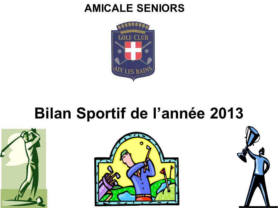 Bilan Sportif de lannée 2013 AMICALE SENIORS