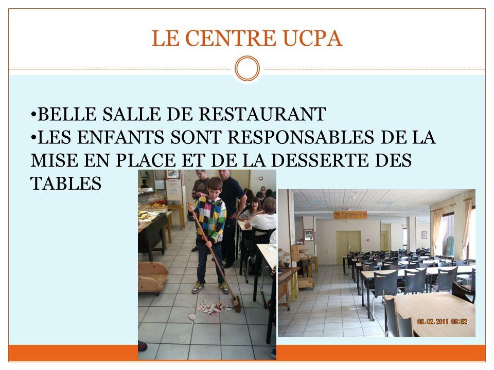 BELLE SALLE DE RESTAURANT LES ENFANTS SONT RESPONSABLES DE LA MISE EN PLACE ET DE LA DESSERTE DES TABLES