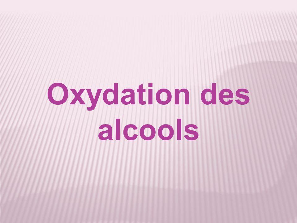 Expérience La solution ne se décolore à son contact donc lalcool tertiaire nest pas oxydable Dans un alcool tertiaire, je verse quelques gouttes de permanganate de potassium