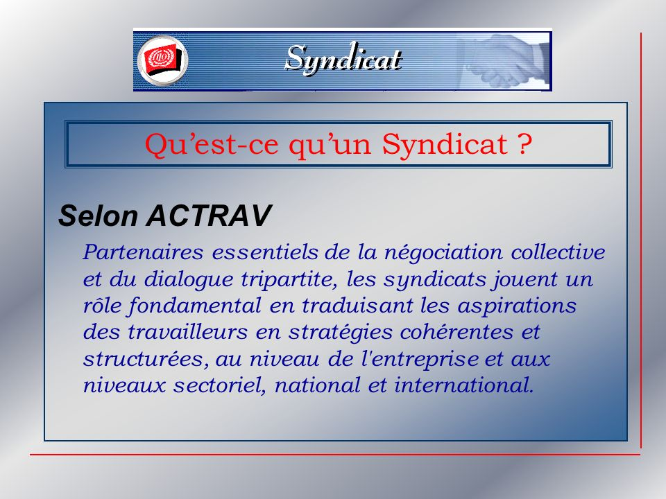 Quest-ce quun Syndicat .